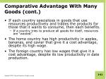 comparative advantage with many goods cont2