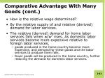 comparative advantage with many goods cont3