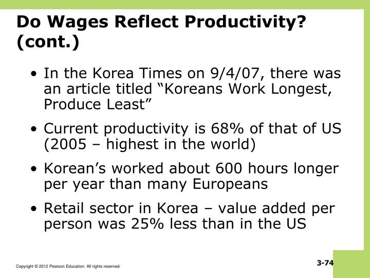 Do Wages Reflect Productivity? (cont.)