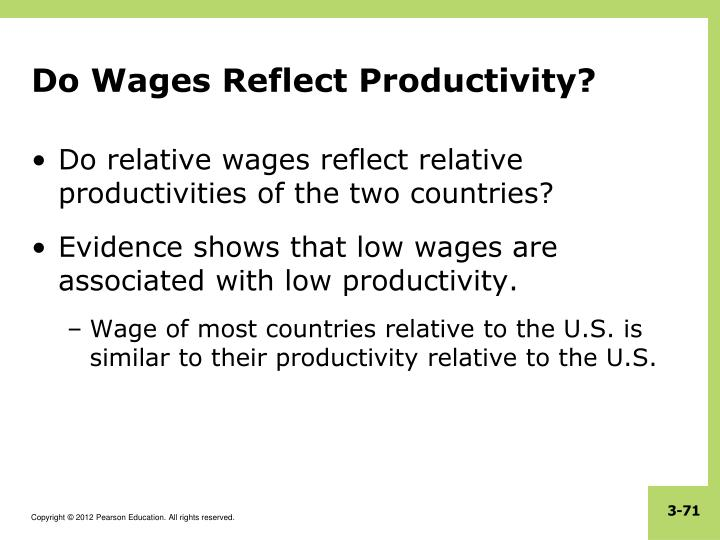 Do Wages Reflect Productivity?
