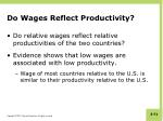 do wages reflect productivity