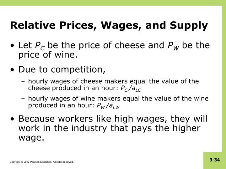 Relative Prices, Wages, and Supply