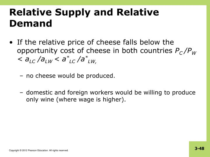 Relative Supply and Relative Demand
