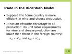 trade in the ricardian model