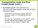 transportation costs and non traded goods cont