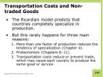 transportation costs and non traded goods