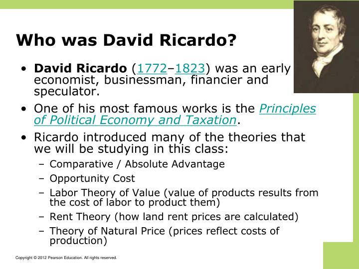 Who was David Ricardo?
