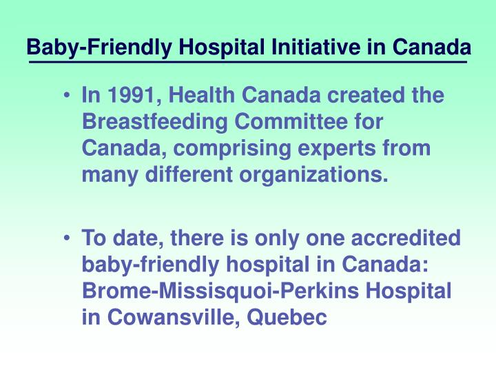 Baby-Friendly Hospital Initiative in Canada