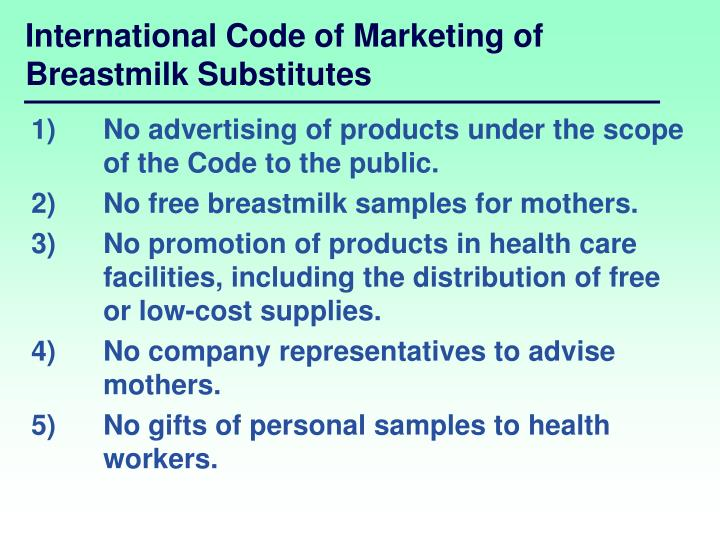 International Code of Marketing of Breastmilk Substitutes