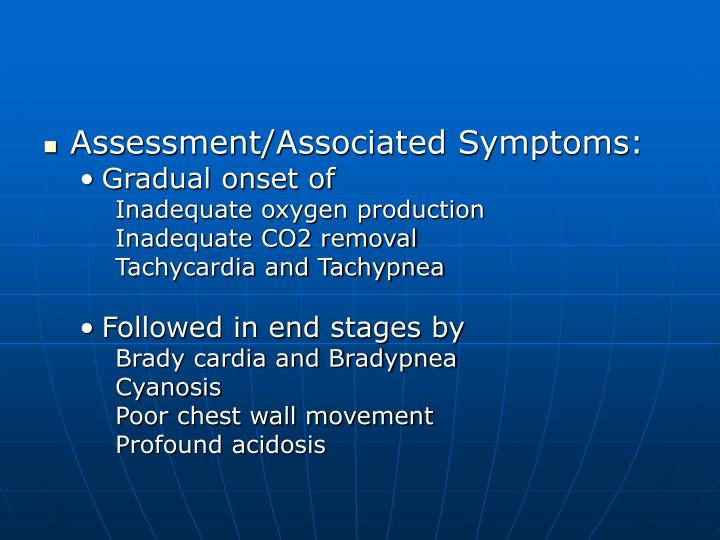 Assessment/Associated Symptoms: