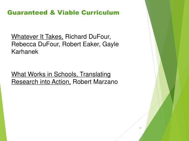 Guaranteed & Viable Curriculum