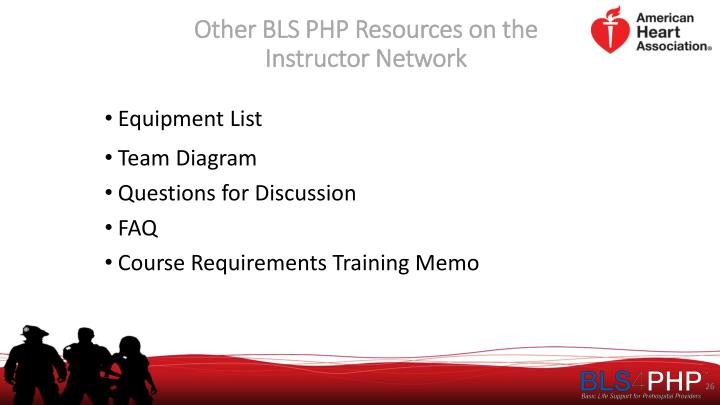 Other BLS PHP Resources on the Instructor Network