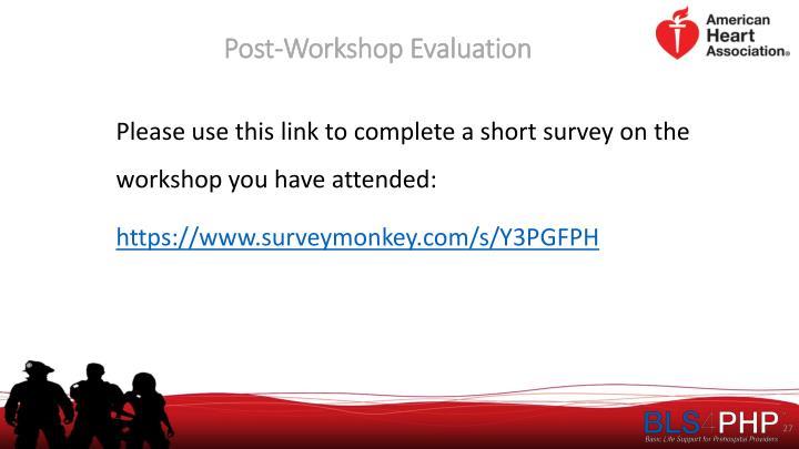 Post-Workshop Evaluation