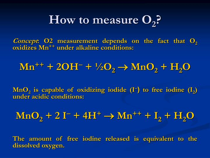 How to measure O