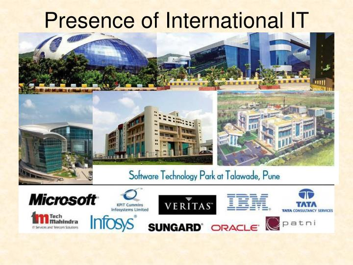 Presence of International IT Firms