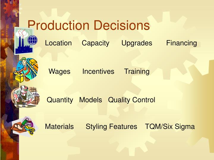 Production Decisions