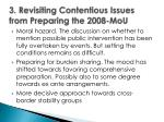 3 revisiting contentious issues from preparing the 2008 mou
