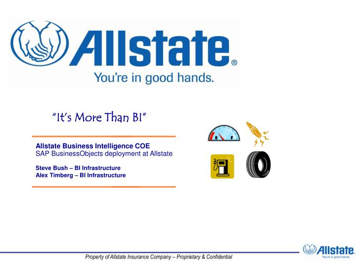 Allstate Business Intelligence COE