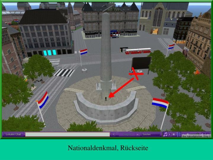 Nationaldenkmal, Rückseite