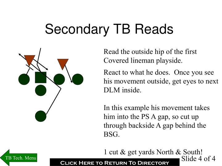 Secondary TB Reads