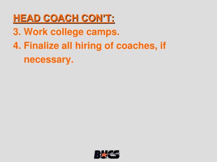 HEAD COACH CON'T: