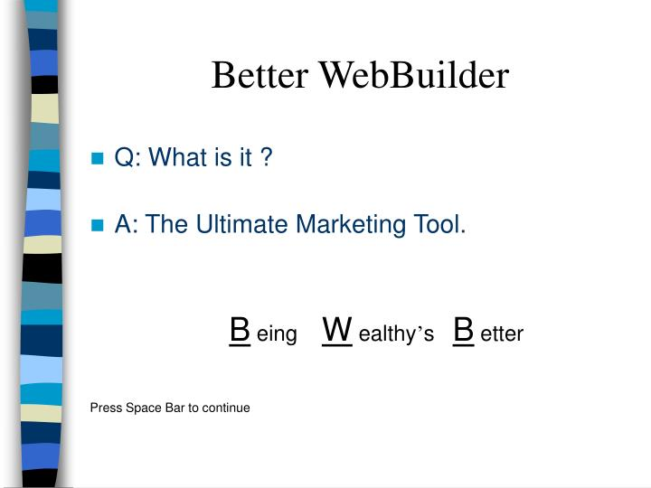 Better webbuilder