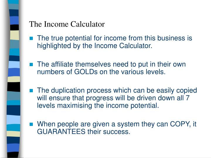 The Income Calculator