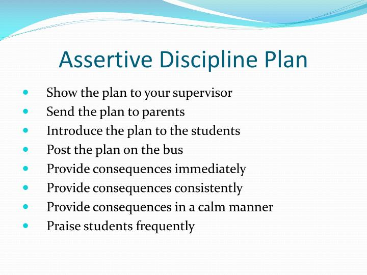 Assertive Discipline Plan