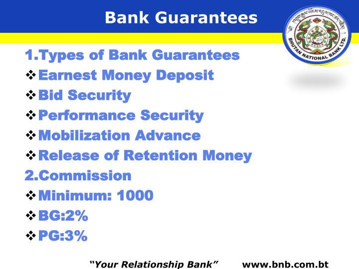 Bank Guarantees