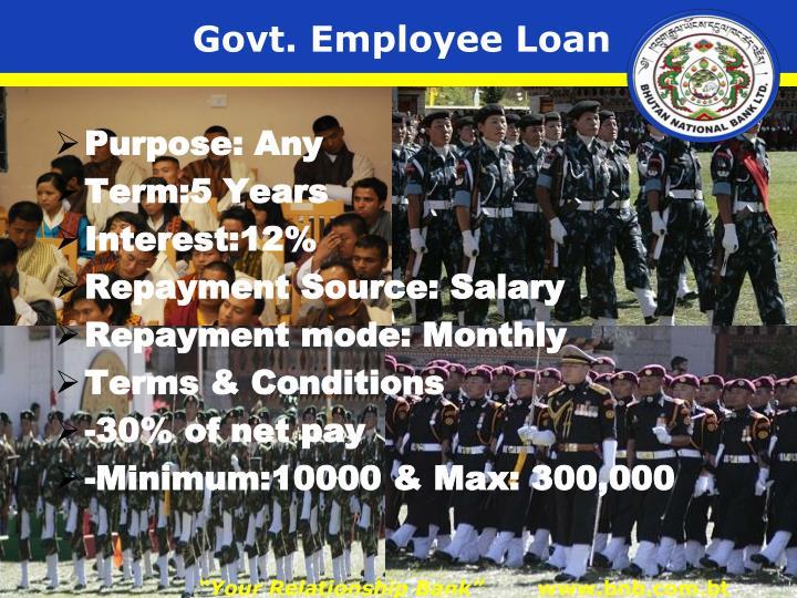 Govt. Employee Loan