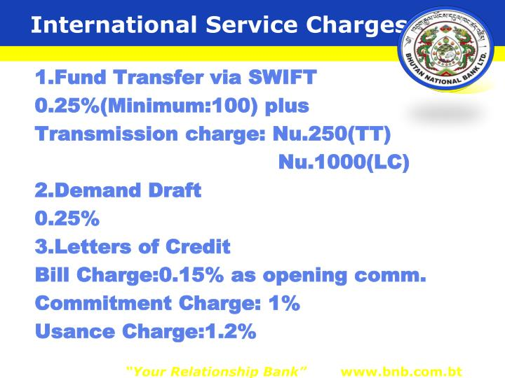 International Service Charges