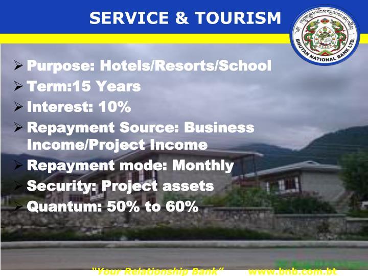 SERVICE & TOURISM