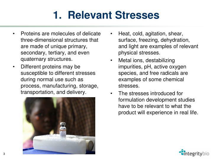 1.  Relevant Stresses