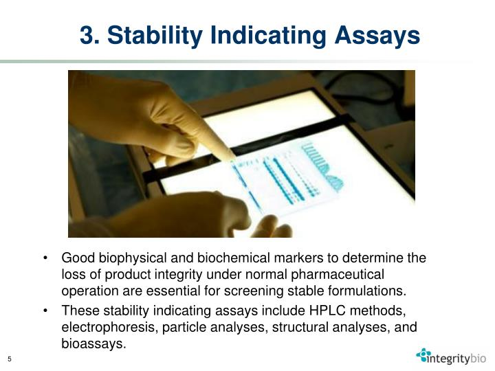 3. Stability Indicating Assays