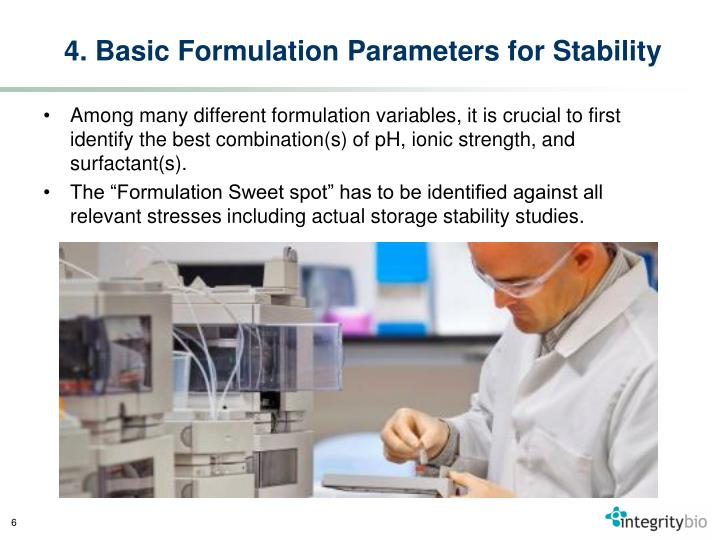 4. Basic Formulation Parameters for Stability