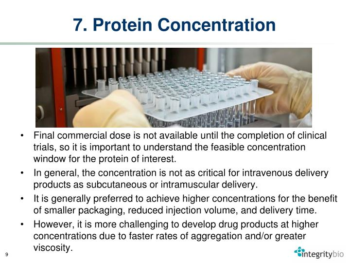 7. Protein Concentration