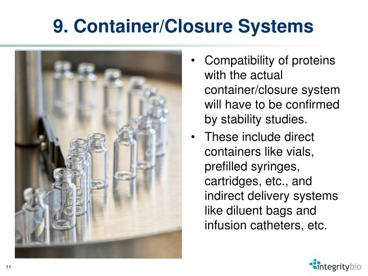 9. Container/Closure Systems
