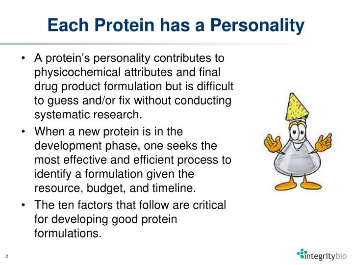Each Protein has a Personality