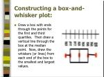 constructing a box and whisker plot3