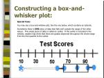 constructing a box and whisker plot4