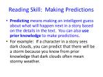 reading skill making predictions