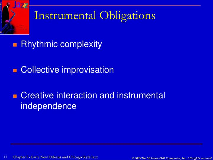 Instrumental Obligations