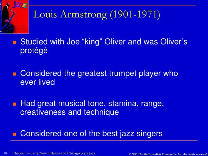 Louis Armstrong (1901-1971)