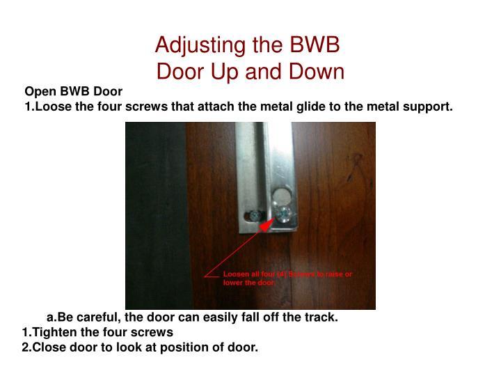 Adjusting the BWB