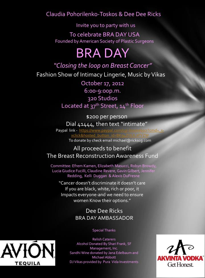 bra day closing the loop on breast cancer