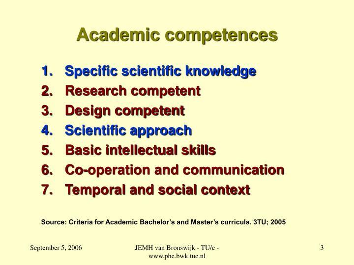 Academic competences
