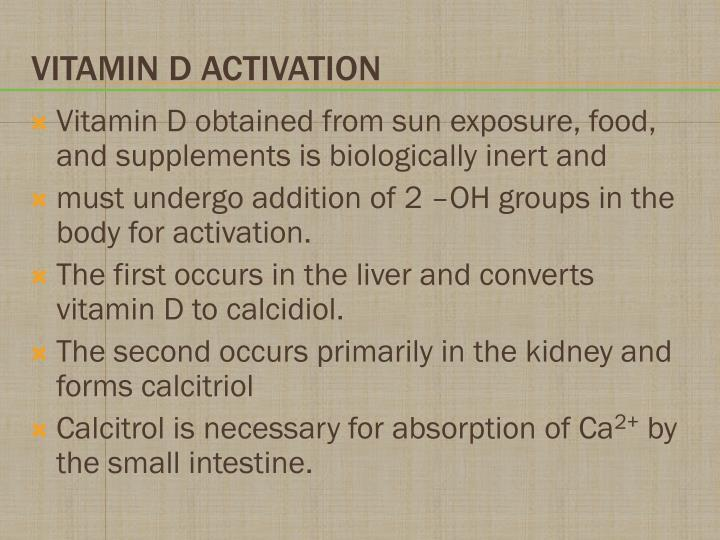 Vitamin D obtained from sun exposure, food, and supplements is biologically inert and