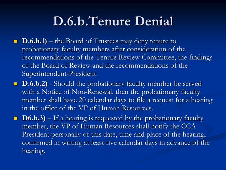 D.6.b.Tenure Denial