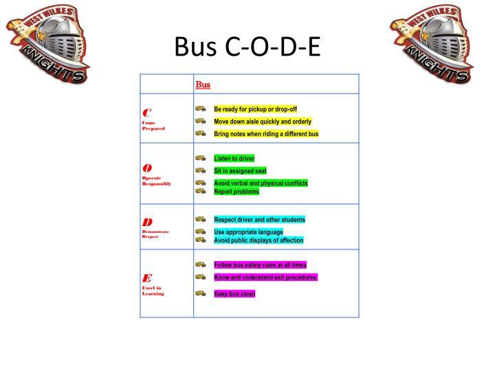 Bus C-O-D-E