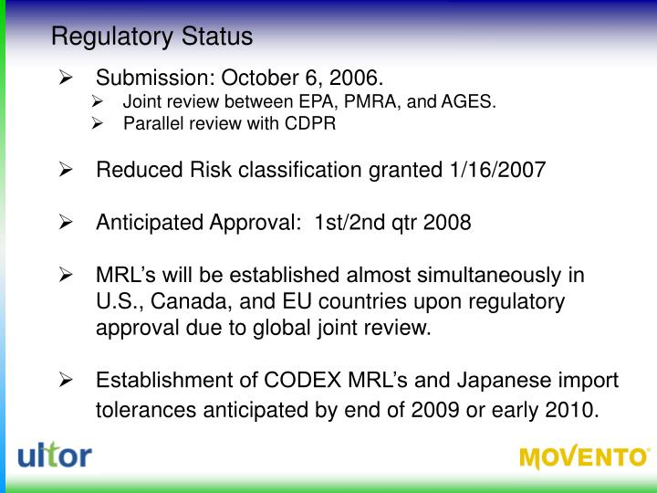 Regulatory Status